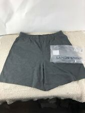Lands End Heather Gray 100% Cotton Shorts Lg. Men's Pockets New!