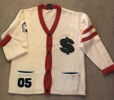 Men's Size XL Billionaire Boys Club Cardigan Off White Red Rare Sweater Bape BBC
