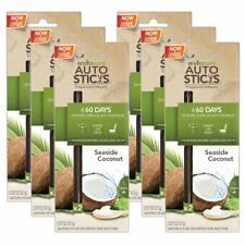 Enviroscents Auto Sticks Air Freshener, 6-Packs with 12 Sticks (Seaside Coconut)