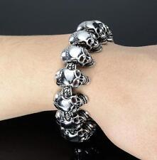 Bracelet Chain Men's Jewelry Silver Stainless steel skeleton Halloween skull