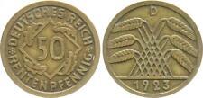 Weimar 50 Pfennig J.310 1923 D sehr schön-vorzüglich