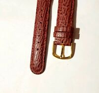 Vintage 18mm R Hadley Roma genuine leather stitched padded  Watch Band strap