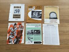 1965-68 catalogs, price guides and bulletins XLO Ex-Cell-O Corp