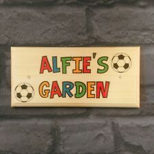 Personalised Kids Garden Sign, Football Shed Treehouse Playhouse Gifts Children