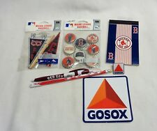 Boston Red Sox Fan Lot Sticker Pin Pen Mini Pennant Bottle Cap Set FREESHIP