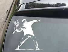Banksy Throwing Flowers Car/Window JDM VW EURO DUB Vinyl Decal Sticker