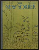 1966 Bluebirds in Spring art by David Preston May 14 New Yorker Mag COVER ONLY