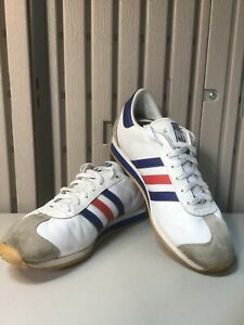 Adidas Country White Tricolor Leather G50909 Trainers Size UK 9 - EUR 43.5 -2011