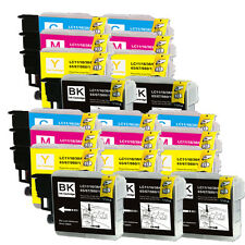 20 PK (BK C M Y) Ink Set Replacement for LC61 Brother MFC J615W J630W 5490CN