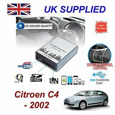 For Citroen C4 SD USB CD AUX Input Audio Adapter Digital CD Changer Module RD3