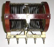 Coil C-389-C ( 1737)  for transmitter BC610 NOS 4,7 MHz to 5,7 MHz - RARE
