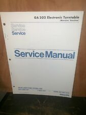Philips GA202 Electronic Turntable Service Manual Schematic's Parts List.