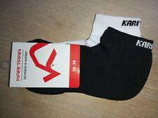 2 Womens KARI TRAA 36-38 3-5 Black White PERFORMANCE Low Cut Trainer SOCKS