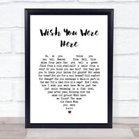 Pink Floyd Wish You Were Here Heart Song Lyric Quote Print