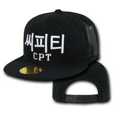 Compton CPT NWA Dre Korean Letters Flat Bill Snapback Snap Baseball Ball Cap Hat