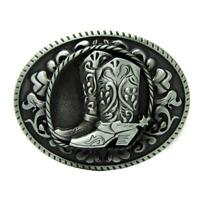 Cowboy Boots Belt Buckle Metal ,Western Country American Horse Riding Buckle
