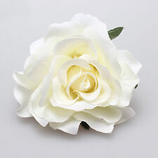 Women Rose Flower Hairpin Fashion Brooch Hair Clip Wedding Headdress Headwear