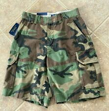 Polo Ralph Lauren Camouflage Cargo Shorts Mens 36 Green & Brown Camo Print NWT