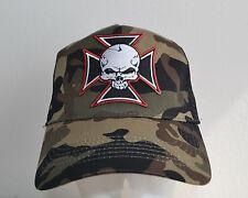 CROIX DE FER,bonnet,Chopper croix,casquette,tête mort,Trucker Cap,camouflage