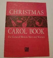 Vintage 1950's Christmas Carol Book For General Motors Men and Women