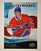 2019-20 ICE Ice Premieres Retro #31 Cale Fleury RC /149 - Montreal Canadiens