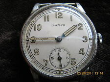 Beautiful huge Lanco Langendorf early military wristwatch from 20/30y/XX century