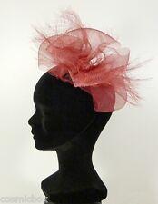 Chapeau de cérémonie femme Sylvie FOSCOUDIS rouge made in France French red hat