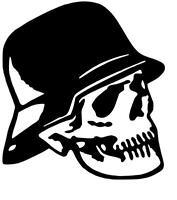 Skull mit Helm Helmskull Aufkleber Sticker, Tuning, Kult, Oldschool in 10X10cm!