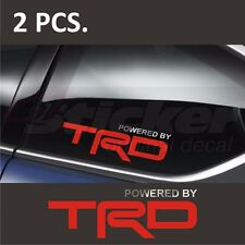2 pcs. Powered by TOYOTA TRD #1  Window Decal sticker emblem Silver + Red logo