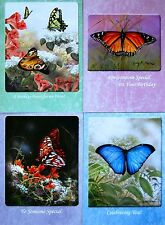 CHRISTIAN FAITH SCRIPTURE BIRTHDAY CARDS SET/4 *FAST USA SHIPPING!  #9 BUTTERFLY