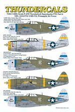 P-47D Razorback Thunderbolts PTO, Part 4, Thundercals 48-004, 1/48 scale decal