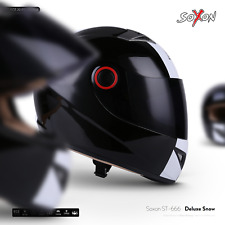 SOXON ST-666 Deluxe Snow Moto Full-Face Helmet Motorcycle Fighter - XS S M L XL