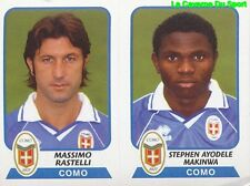 500 MAKINWA NIGERIA COMO CALCIO Beijing BG CHINA STICKER CALCIATORI 2004 PANINI