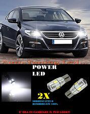 LUCI POSIZIONE VW PASSAT CC CANBUS T10 BIANCO 6 LED SUPER QUALITA