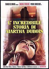 L'INCREDIBILE STORIA DI MARTHA DUBOIS MANIFESTO 1971 MACEDOINE MOVIE POSTER 4F