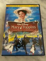 "DVD DISNEY ""MARY POPPINS"" EDIZIONE SPECIALE 2 DVD JULIE ANDREWS ITALIA"