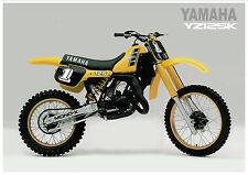 Yamaha Poster Yz125 Yz125K 1983 Vmx Yellow Usa Suitable to Frame