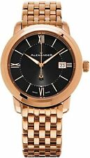 Alexander Heroic Macedon Black Dial Swiss Rose Gold Mens Watch A111B-07