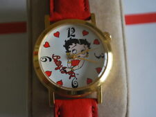 Nice NOS Vintage Betty Boop Gold Tone Manual Wind Lady Watch w/Box