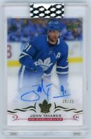 John Tavares 2018-19 Upper Deck Clear Cut UD EXCLUSIVES Auto Rare 30/35!