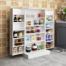 Wooden Kitchen Pantry Storage Cabinet Organizer Food Cupboard with Double Door