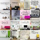 Removable Vinyl Wall Stickers Art Quote Decal Mural Home Room DIY Decor Windows