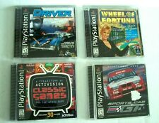 4 PS1 Video Games Sports Car, Driver, Wheel Of Fortune, Classic Games