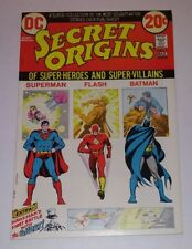 DC Secret Origins Comic #1 March 1973 Batman Superman The Flash