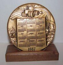 *John Deere 1987 Calendar Medallion 1956 Trademark  Lawn & 4WD Tractors  Backhoe