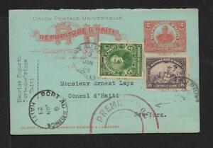 HAITI TO USA  AIR CARD COVER  FIRST  FLIGHT 1929