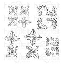 Heartfelt Creations Stamps ~ CHRISTMAS POINSETTIA & HOLLY ~ HCPC3881