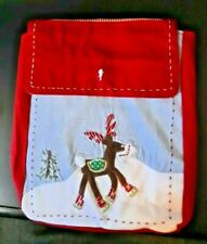 Pottery Barn Kids Christmas Rudolph Red Nose Reindeer Chairbacker Chair Holiday