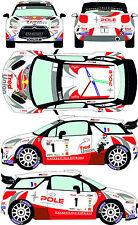 1/43 Decal Citroen DS3 WRC #1 Rally de Champagne 2015