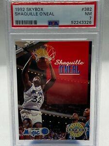 1992-93 Skybox Shaquille O'Neal RC #382 PSA 7 Rookie Card - Magic Shaq